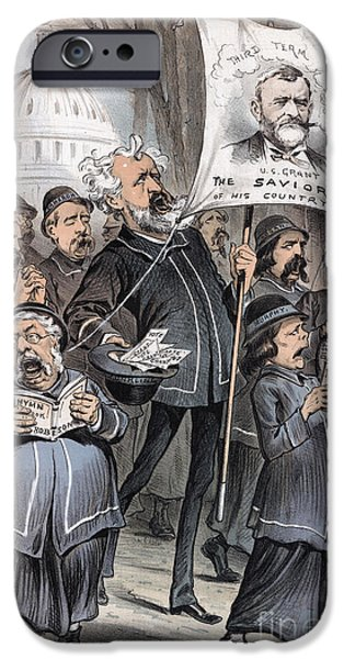 Canvassing iPhone Cases - Grant Cartoon, 1880 iPhone Case by Granger