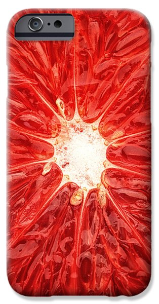 Macro iPhone Cases - Grapefruit close-up iPhone Case by Johan Swanepoel