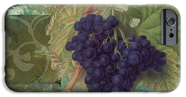 Grape Leaf iPhone Cases - Grapes Margaux iPhone Case by Mindy Sommers