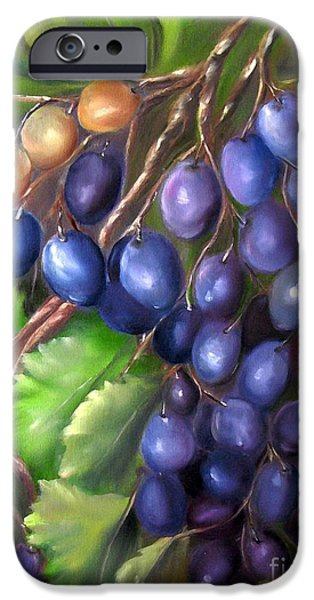 Concord Grapes iPhone Cases - Grapevine iPhone Case by Carol Sweetwood