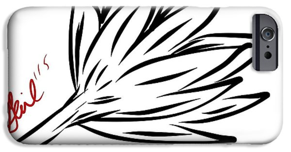 Abstract Digital iPhone Cases - Graphic Lily iPhone Case by Gail Nandlal