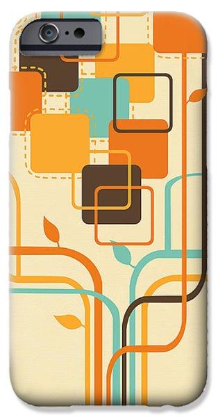 graphic tree iPhone Case by Setsiri Silapasuwanchai