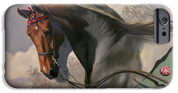 American Saddlebred iPhone Cases - Graphite Resurrection 4 iPhone Case by Jeanne Newton Schoborg
