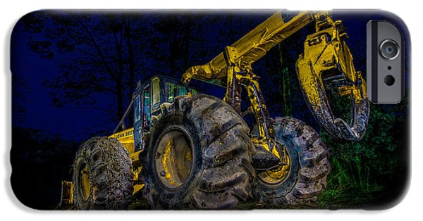 Machinery iPhone Cases - Grapple Skidder iPhone Case by Paul Freidlund