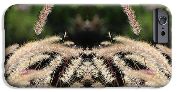 Floral Digital Art Digital Art iPhone Cases - Grass Temple iPhone Case by Daniel Unfried