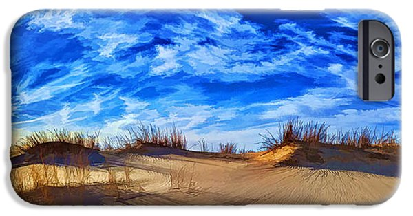 Rust iPhone Cases - Grassy Dunes at Sandhills SP iPhone Case by Bill Caldwell -        ABeautifulSky Photography