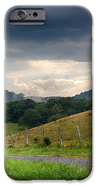 Fog Mist iPhone Cases - Grassy Meadows iPhone Case by Robert Loe