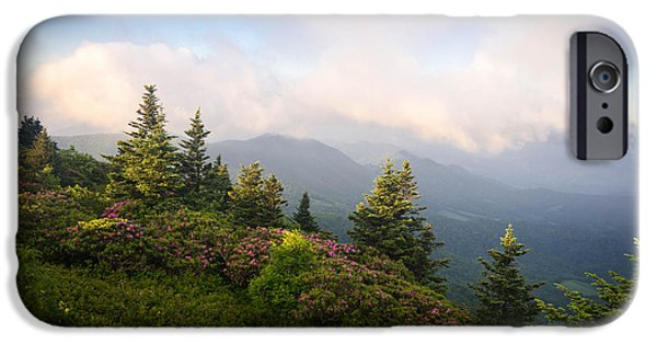 Meadow Photographs iPhone Cases - Grassy Ridge Rhododendron Bloom iPhone Case by Serge Skiba