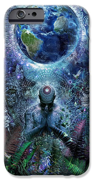 Enlightenment iPhone Cases - Gratitude For The Earth And Sky iPhone Case by Cameron Gray