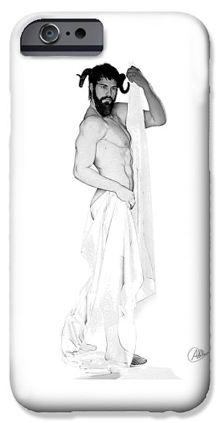 Zeus iPhone Cases - Gray Dionysus iPhone Case by Joaquin Abella