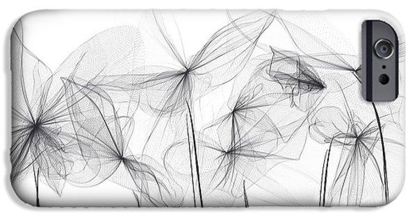 Light And Dark  iPhone Cases - Grayish Spring - Modern Art iPhone Case by Lourry Legarde