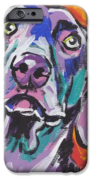 Weimaraners iPhone Cases - Gray Ghost iPhone Case by Lea