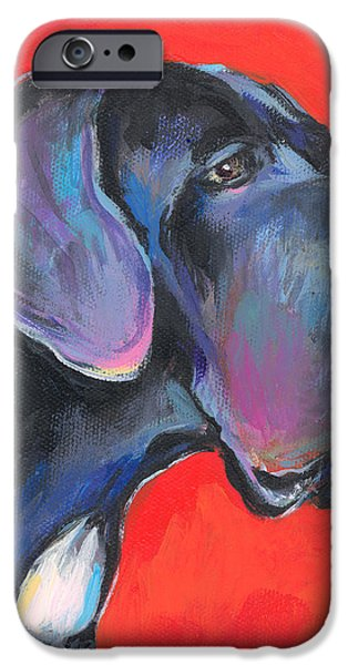 Great dane painting iPhone Case by Svetlana Novikova