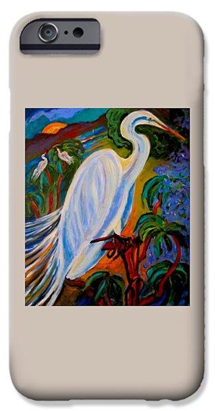 Birds Ceramics iPhone Cases - Great Egret iPhone Case by Carol Keiser