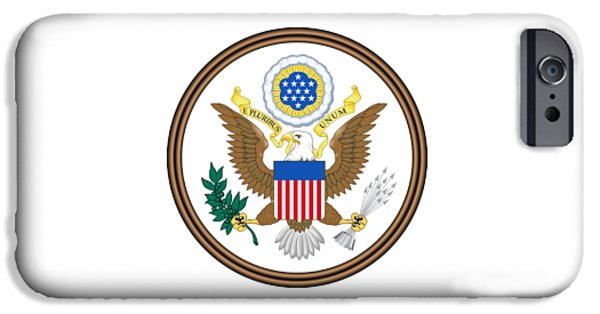 Great Seal Of The United States iPhone Cases - Great Seal Of The United States iPhone Case by Frederick Holiday