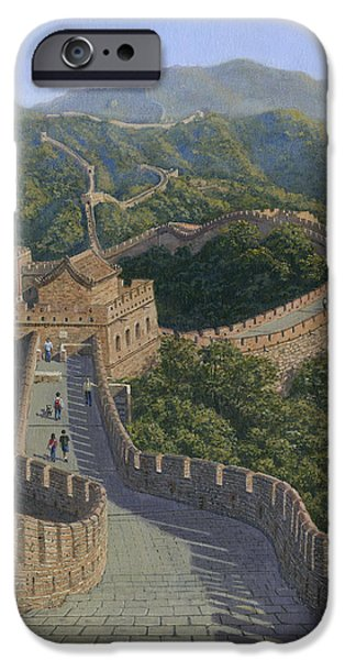 Richard iPhone Cases - Great Wall of China iPhone Case by Richard Harpum