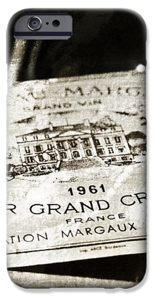 Great Wines Of Bordeaux - Chateau Margaux 1961 iPhone Case by Frank Tschakert