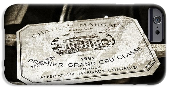 Wine Cellar iPhone Cases - Great Wines Of Bordeaux - Chateau Margaux 1961 iPhone Case by Frank Tschakert