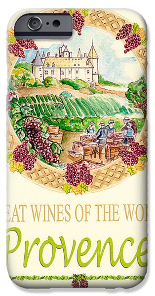 Great Wines Of The World - Provence iPhone Case by John Keaton