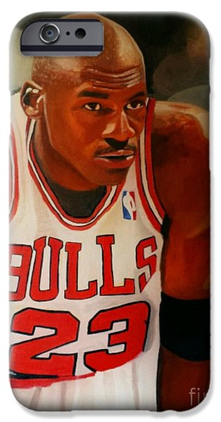 Mj Paintings iPhone Cases - Greatness part1 iPhone Case by Jason Majiq Holmes