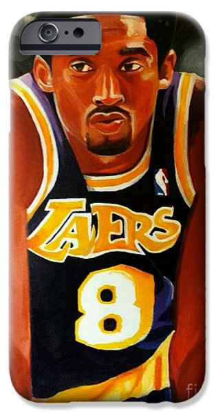 Kobe Paintings iPhone Cases - Greatness part2 iPhone Case by Jason Majiq Holmes