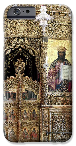 Greek Icon iPhone Cases - Greek Orthodox Alter iPhone Case by John Rizzuto