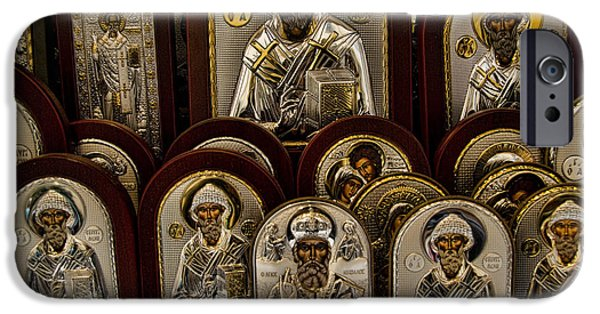 Religious Icon iPhone Cases - Greek Orthodox Church Icons iPhone Case by David Smith