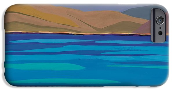 The Hills iPhone Cases - Greek Sea iPhone Case by Sarah Gillard