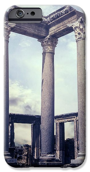Remains iPhone Cases - Greek temple iPhone Case by Joana Kruse