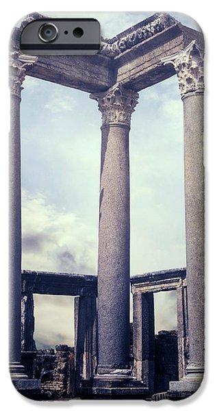 Greek iPhone Cases - Greek temple iPhone Case by Joana Kruse