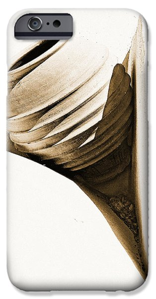 Pottery iPhone Cases - Greek Urn iPhone Case by Meirion Matthias