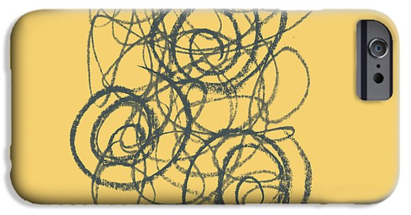 Abstract Expressionism iPhone Cases - Green and Gold 2 iPhone Case by Julie Niemela