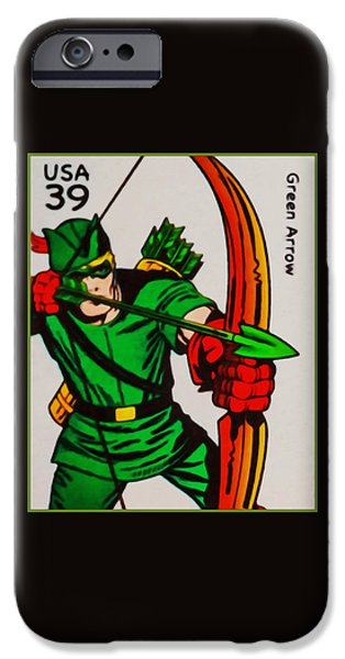 Recently Sold -  - Cut-outs iPhone Cases - Green Arrow iPhone Case by Lanjee Chee