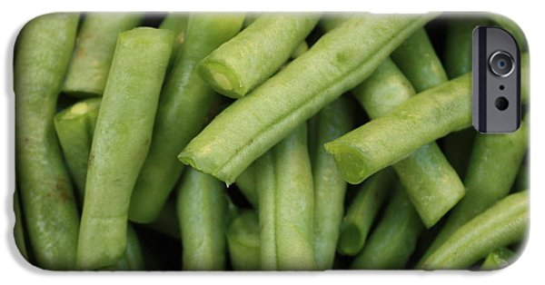 Green Beans iPhone Cases - Green Beans Close-Up iPhone Case by Carol Groenen
