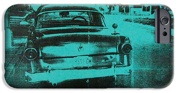 Havana iPhone Cases - Green car iPhone Case by David Studwell