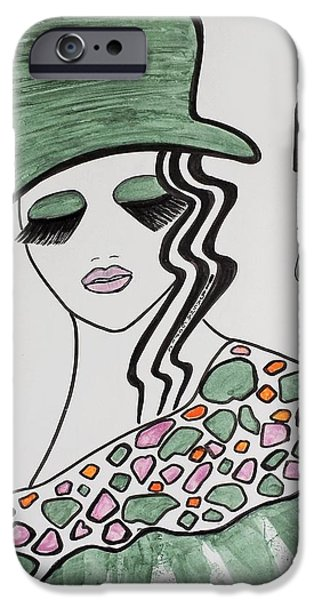 Fabulous Gifts iPhone Cases - Green Hat iPhone Case by Jasna Gopic