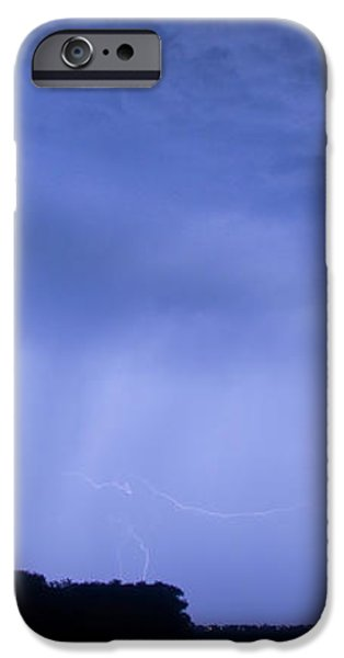 Green Lightning Bolt Ball and Blue Lightning Sky iPhone Case by James BO  Insogna
