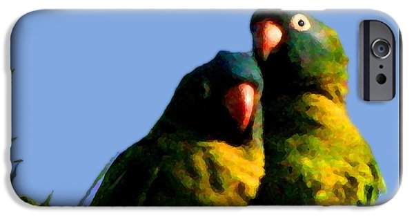 Consumerproduct iPhone Cases - Green Parrot iPhone Case by W Gilroy