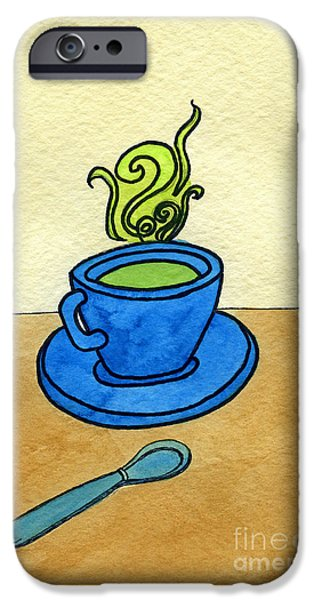 Appleton Art iPhone Cases - Green Tea iPhone Case by Norma Appleton