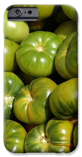 Green Tomatoes iPhone Case by Frank Tschakert
