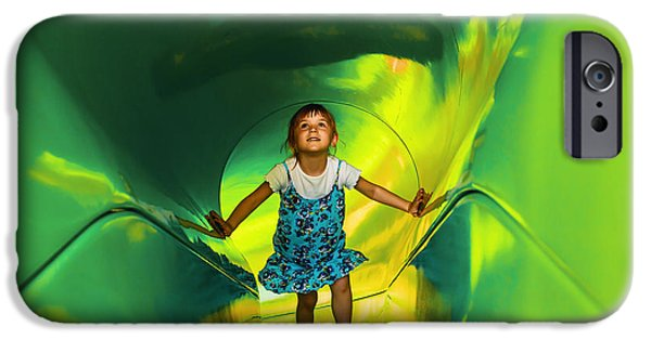 Freedom iPhone Cases - Green Tunnel 1 iPhone Case by Maria Bobrova