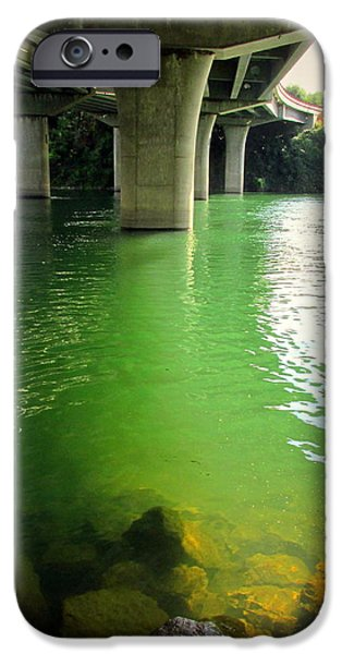 Business Photographs iPhone Cases - Green Water Under Bonneview Bridge iPhone Case by Joyce Dickens