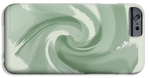 Abstract Expressionism iPhone Cases - Green Wave iPhone Case by Lenore Senior