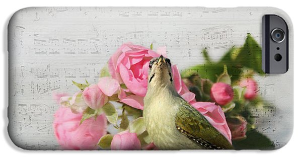 Animal Picture iPhone Cases - Green Woodpecker Stilllife iPhone Case by Heike Hultsch