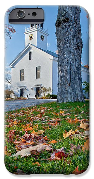Greenfield Church iPhone Case by Susan Cole Kelly