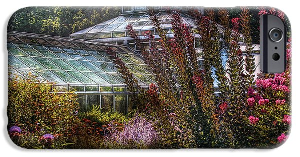 Flower Gardens Photographs iPhone Cases - Greenhouse - The Greenhouse iPhone Case by Mike Savad