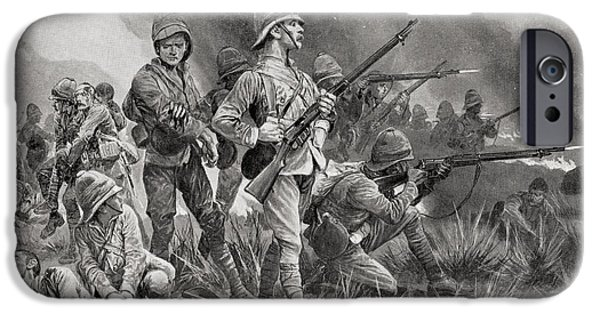 War iPhone Cases - Grenadier Guards At The Battle Of iPhone Case by Ken Welsh