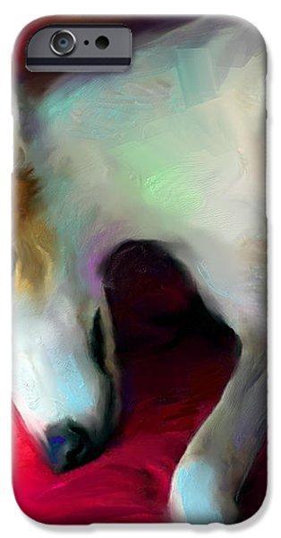 Greyhound Dog portrait  iPhone Case by Svetlana Novikova
