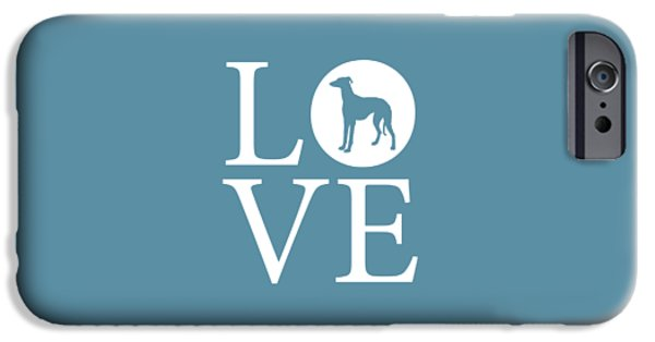 Owner Digital iPhone Cases - Greyhound Love iPhone Case by Nancy Ingersoll