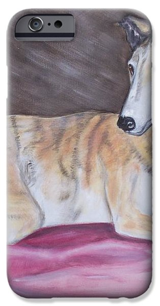 Greyhound Number 2 iPhone Case by George Pedro